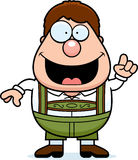 Cartoon Lederhosen Boy Idea Stock Photography