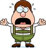 Cartoon Lederhosen Boy Panic stock illustration