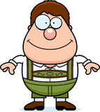 Cartoon Lederhosen Boy Smile Stock Image