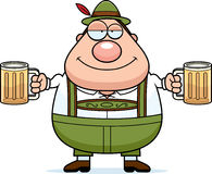 Cartoon Lederhosen Man Beer Royalty Free Stock Photos