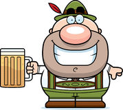 Cartoon Lederhosen Man Beer Stock Photo