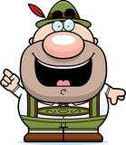 Cartoon Lederhosen Man Idea Royalty Free Stock Photography