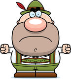 Cartoon Lederhosen Man Mad Stock Photography