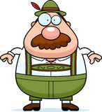 Cartoon Lederhosen Man Mustache Stock Images