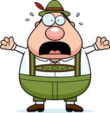 Cartoon Lederhosen Man Panic Stock Images