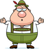 Cartoon Lederhosen Man Shrug Royalty Free Stock Photo