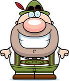 Cartoon Lederhosen Man Smile Stock Images