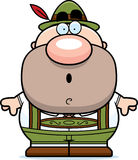 Cartoon Lederhosen Man Surprised Royalty Free Stock Photo