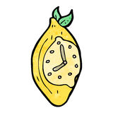 cartoon lemon clock Stock Images