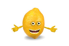 Cartoon lemon. Objects over white. Royalty Free Stock Images