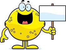 Cartoon Lemon Sign Stock Image