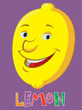 Cartoon lemon Royalty Free Stock Image