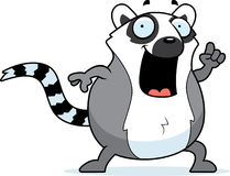 Cartoon Lemur Idea Stock Photo