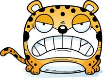 Cartoon Leopard Angry. A cartoon leopard cub with an angry expression vector illustration