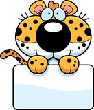 Cartoon Leopard Sign Stock Images