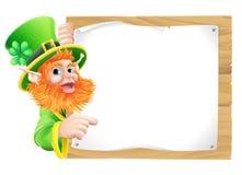 Cartoon leprachaun sign Royalty Free Stock Images