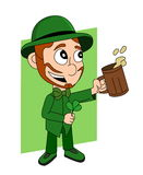 Cartoon leprechaun Stock Images