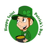 Cartoon leprechaun Stock Photography