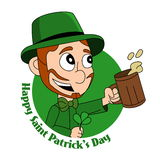 Cartoon leprechaun Stock Image