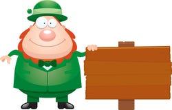 Cartoon Leprechaun Sign Royalty Free Stock Image
