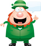 Cartoon Leprechaun Talking Stock Image