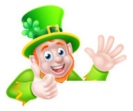 Cartoon Leprechaun Thumbs Up Stock Photography