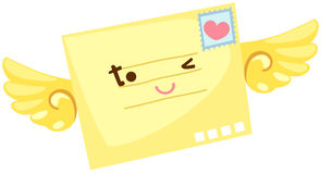 Cartoon letter flying Royalty Free Stock Photography