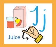 Cartoon letter J. Creative English alphabet. ABC concept. Sign language and alphabet. Sign language and alphabet. Cartoon letter J. Creative English alphabet Stock Illustration