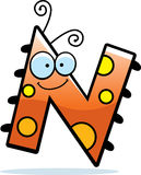 Cartoon Letter N Bug Royalty Free Stock Image