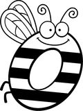 Cartoon Letter O Bug Stock Photos
