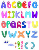 Cartoon letters Stock Image