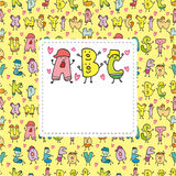 Cartoon letters card Stock Image