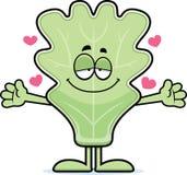 Cartoon Lettuce Leaf Hug Royalty Free Stock Image