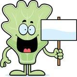 Cartoon Lettuce Leaf Sign Stock Images