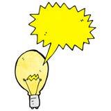 Cartoon light bulb Royalty Free Stock Image