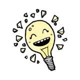 Cartoon light bulb Stock Photo