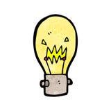 Cartoon light bulb Stock Images