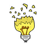Cartoon light bulb exploding Stock Photo