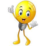 Cartoon light bulb giving thumb up. Illustration of Cartoon light bulb giving thumb up royalty free illustration