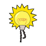 Cartoon light bulb Stock Photography