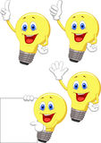 Cartoon light bulb Royalty Free Stock Image
