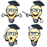 Cartoon light bulb Royalty Free Stock Photo