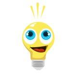 Cartoon light bulb Stock Photos