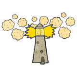 Cartoon light house Stock Images