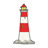 Cartoon light house Royalty Free Stock Images