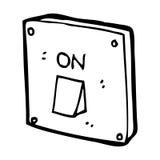 Cartoon light switch Stock Images
