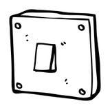 Cartoon light switch Royalty Free Stock Image
