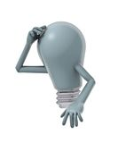 Cartoon lightbulb Royalty Free Stock Images