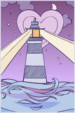 Cartoon lighthouse Royalty Free Stock Image