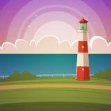 Cartoon Lighthouse Royalty Free Stock Photo